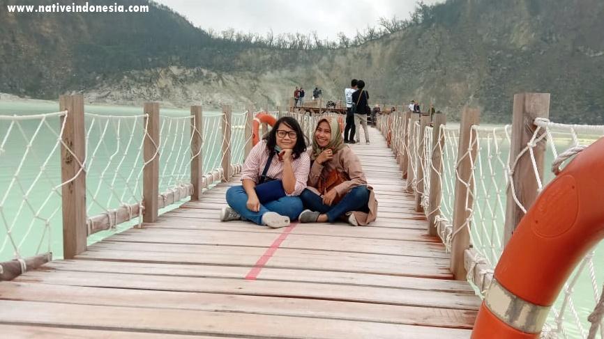 platform jembatan di kawah putih Bandung