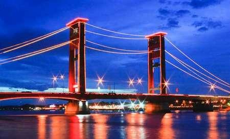 jembatan ampera - tempat wisata di palembang