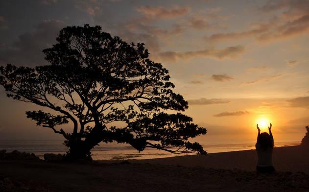 pantai pok tunggal wonosari - sunset
