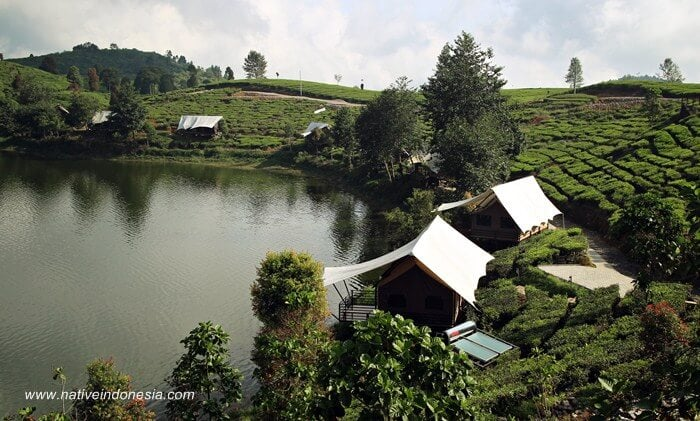 glamping lakeside rancabali bandung - tent resort