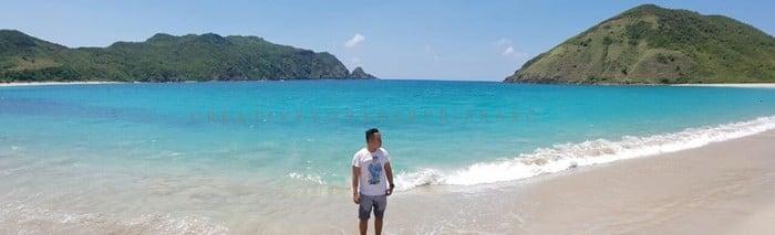 backpacker ke lombok - Pantai Mawun