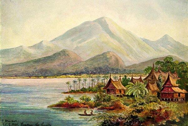 lukisan danau singkarak