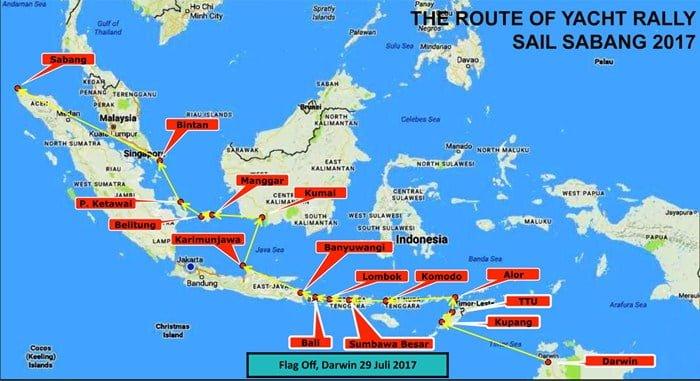 Rute Sail Sabang 2017