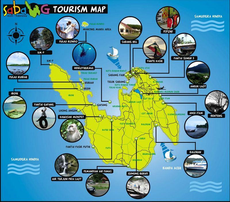 tempat wisata di sabang lengkap