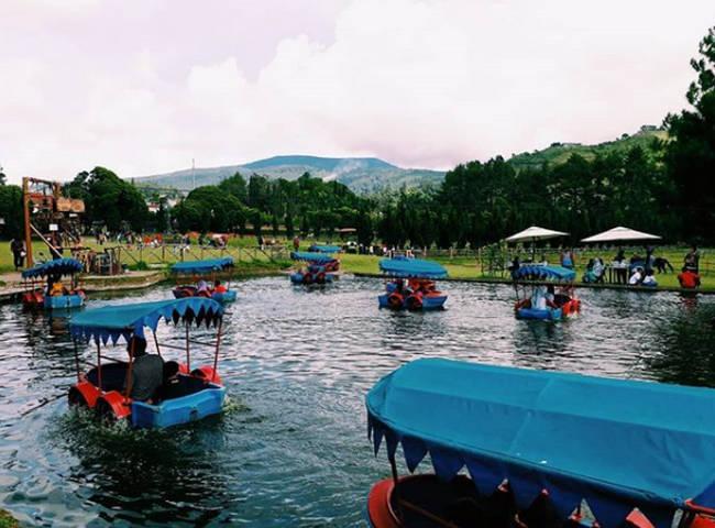 fun boat wahana air lembang