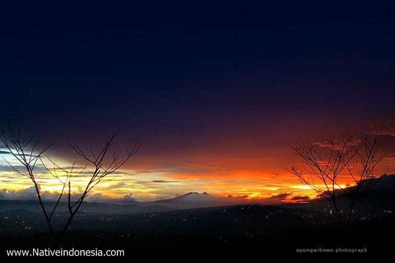 puncak bintang bandung - sunset