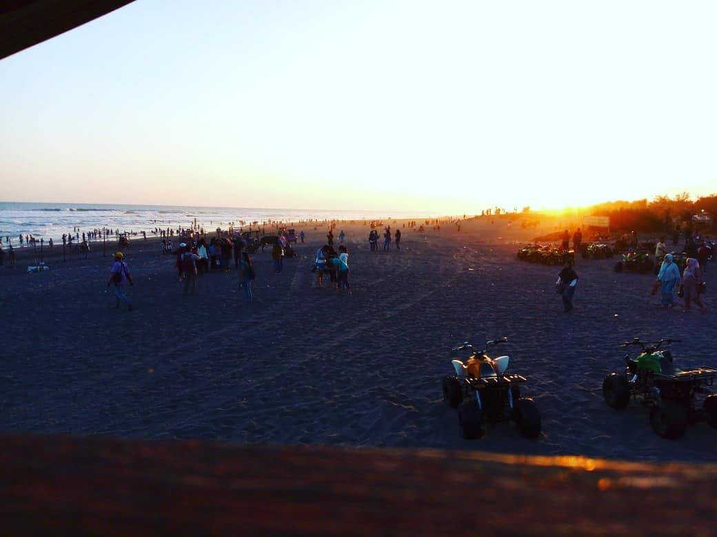 Crowded Parangtritis Beach
