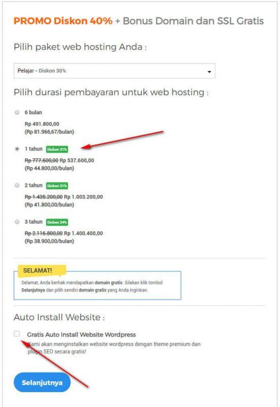 cara beli hosting domain 2