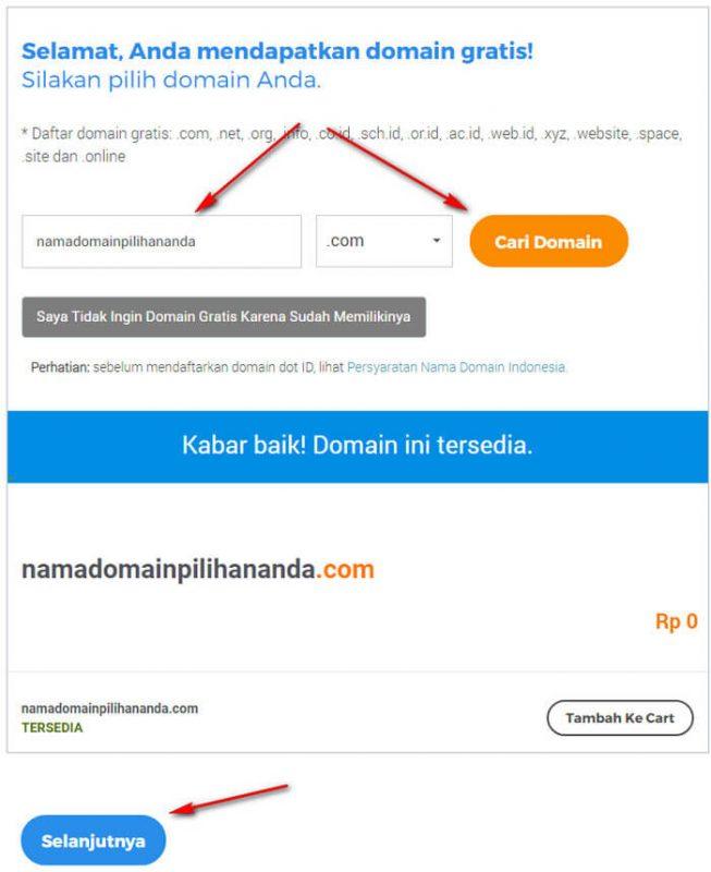 cara beli hosting domain 3