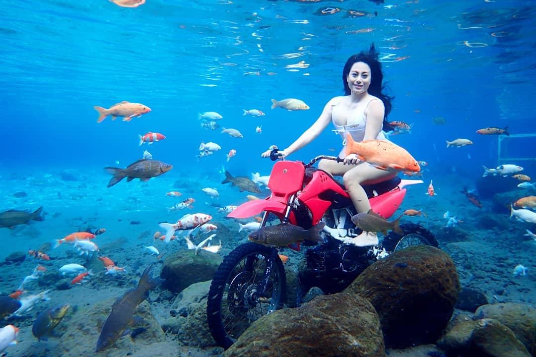 Umbul Ponggok Underwater Motor