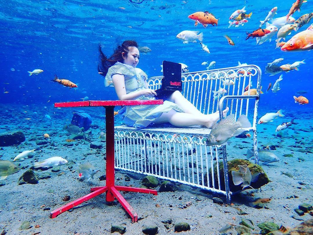 Umbul Ponggok Underwater Work