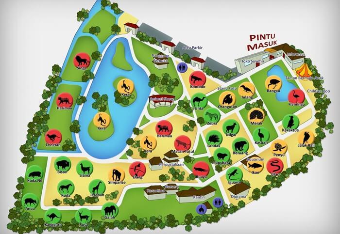 peta kebun binatang surabaya