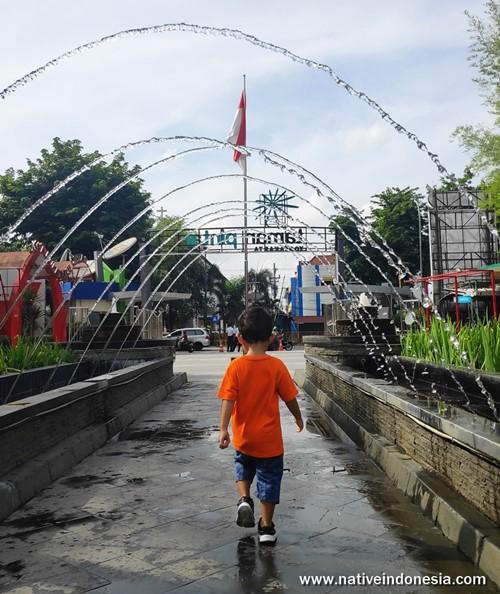 air mancur Taman Pintar Jogja