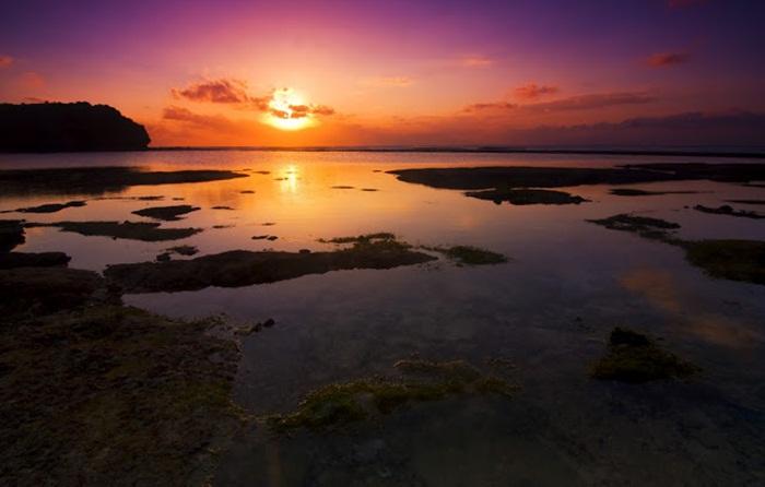 sunset dari pantai