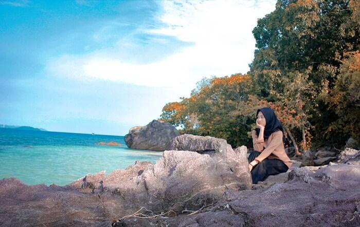 Spot foto Cantik di pulau Tangkil