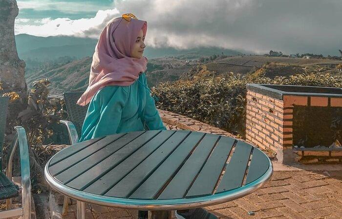 Langit yang cerah di Malino Highlands, moment ideal untuk pengambilan foto