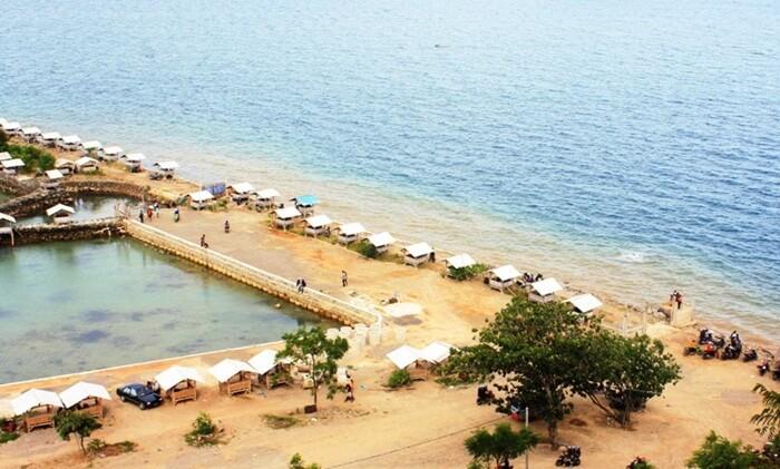 Pantai mutun pantai paling ujung di teluk lampung