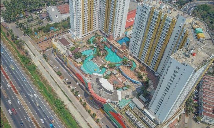 marcopolo water Park, taman air unik yang berada di atap lantai 5 gedung tinggi