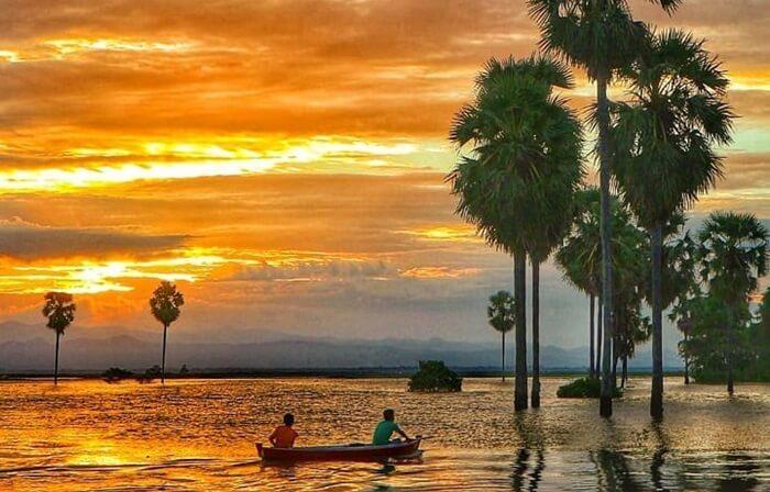 sunset danau tempe, sungguh indah dipandang mata