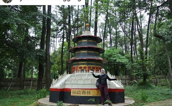 temple of heaven, salah satu miniatur landmark dunia yang ditampilkan di punti kayu palembang