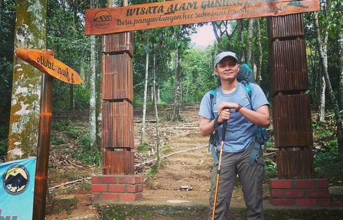 titik Start, awal perjalanan pendakian Gunung Lembu
