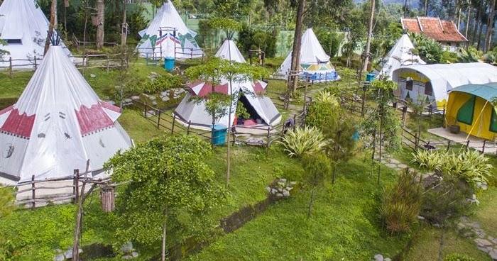camping ground ciwidey valley menawarkan perkemahan rasa suku indian amerika