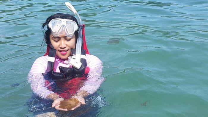 saat bertemu ubur ubur di danau pulau kakab janganm enyentuh apalagi mengangkat mereka keluar dari air.