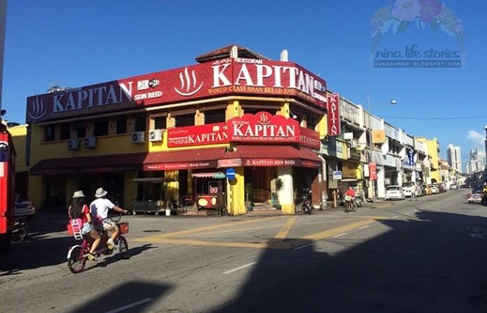 restoran kapitan, tempat wisata di penang jenis kuliner yang melegenda sejak puluhan tahun lalu