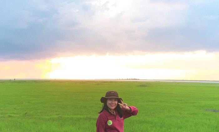 Pada musim kemarau danau semayang ukurannya menyusust. lahan kering yang ditinggalkan air danau, dimanfaatkan penduduk untuk pertanian, menanam jagung dan bahkan padi.