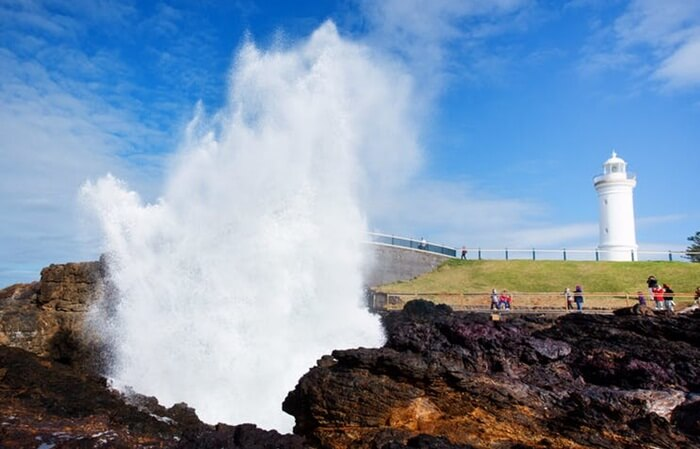 tempat wisata di Sydney Kiama Lighthouse ini berada sangat dekat dengan semburan air spektakuler yang bisa memancar hingga ketinggian 20 meter.