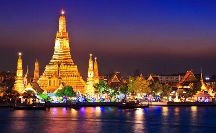 tempat wisata di thailand ini merupakan kuil ternegah di thailand