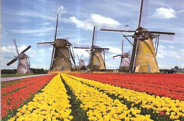 Tempat wisata di Belanda terdiri dari keindahan alam, bangunan,  Kanal, taman bunga, hingga sejarah yang unik