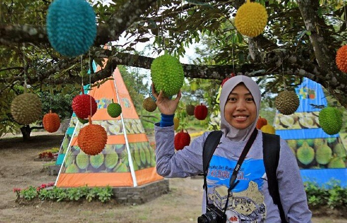 Kampung Durian menjadi idola para pencinta durian ketika berkunjung ke area wisata gunung kelud
