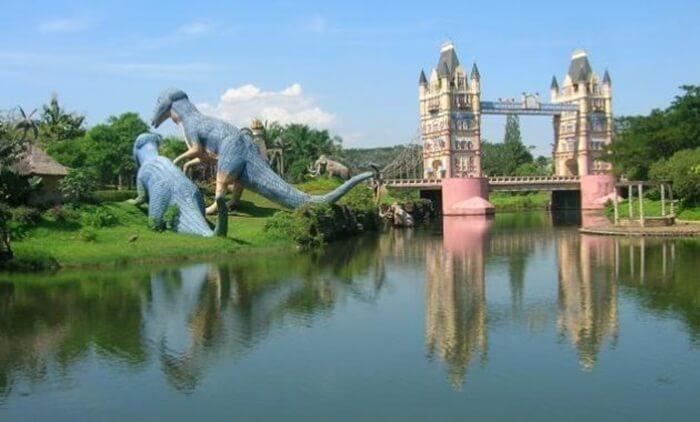 fantasy island cibubur, tempat wisata cibubur yang bagaikan taman wisata di luar negeri