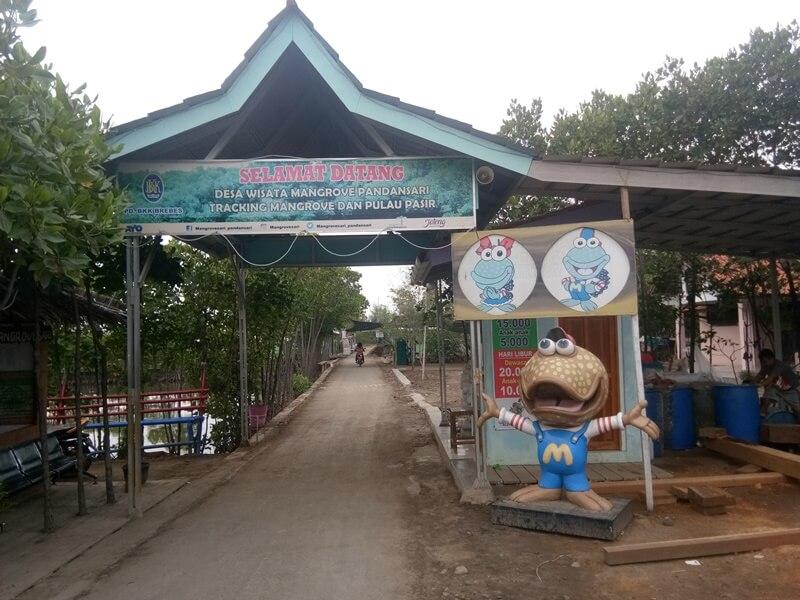 Lokasi Pembayaran Tiket Mangrove Brebes