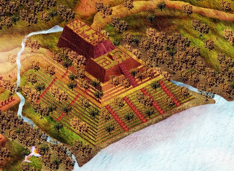 Sketsa Punden Berundak Gunung Padang