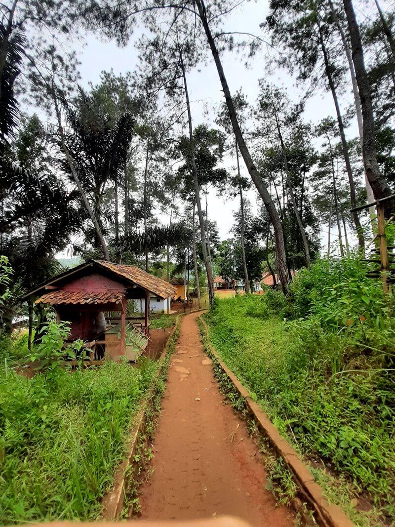 Trekking Di Jalur Yang Masih Berupa Tanah Liat