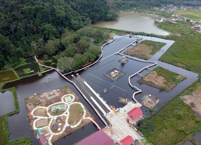 Taman Rekreasi Air Bonto Royo menyuguhkan panorama alam yang bisa menyejukan mata dan bikin pikiran serasa lebih tenang