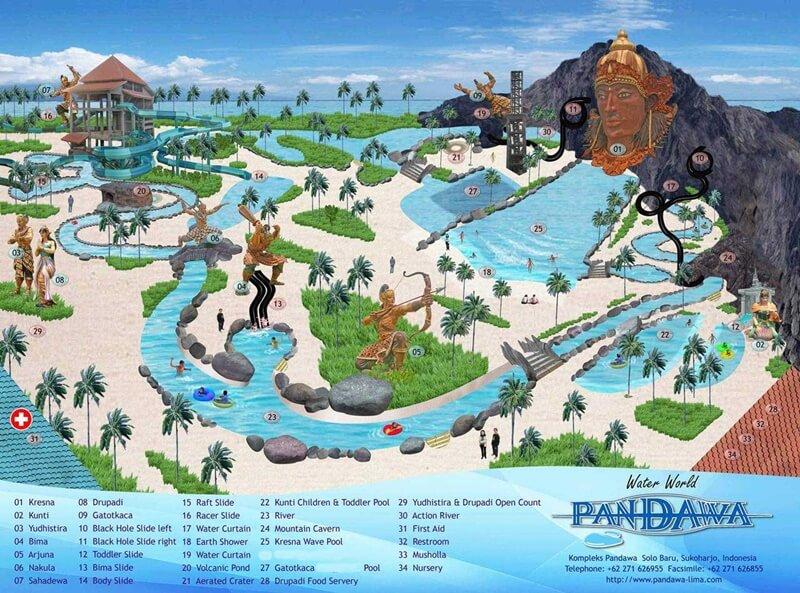 Ragam Wahana Dan Fasilitas Di Pandawa Water World