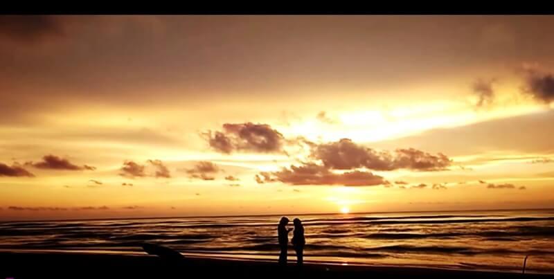 Sunset Di Pantai Duayu Sekundang