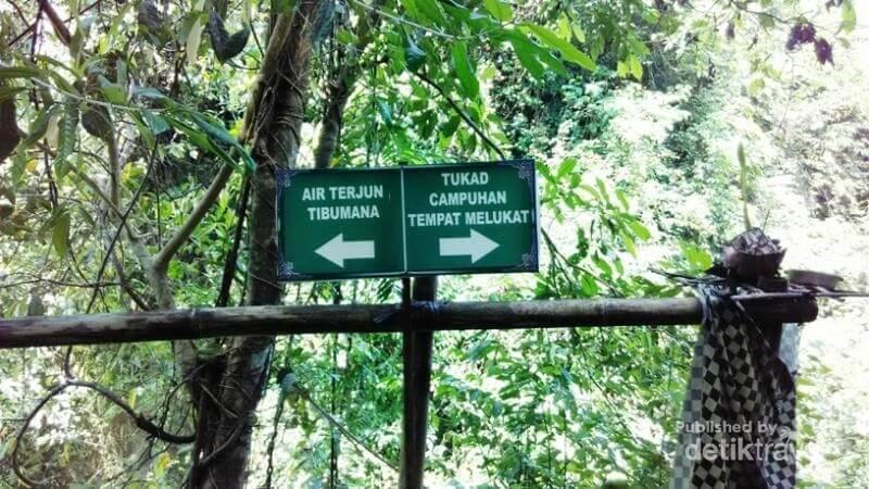 Persimpangan Jalur Menuju Air Terjun Tibumana