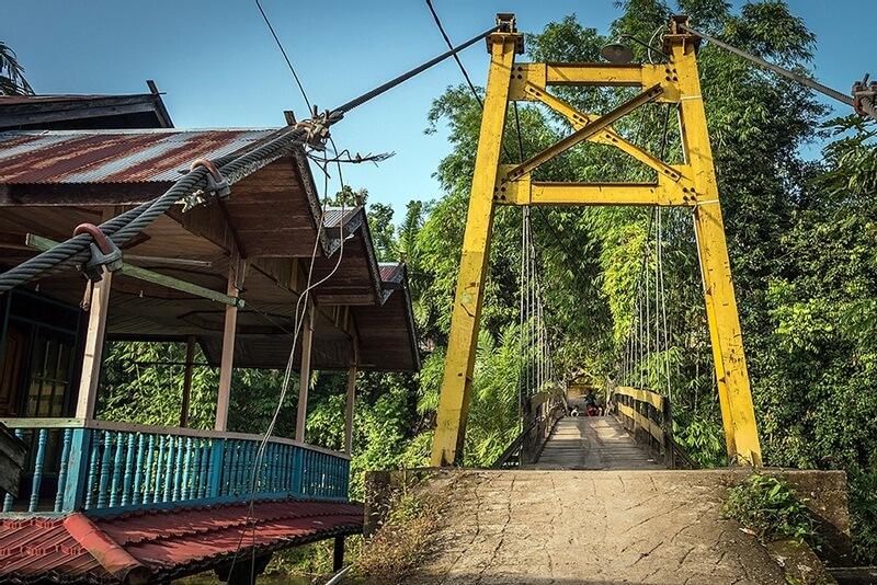 Salah-Satu Jembatan Gantung Di Desa Loksado