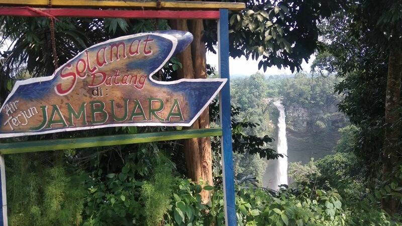 Penanda Lokasi Air Terjun Jambuara