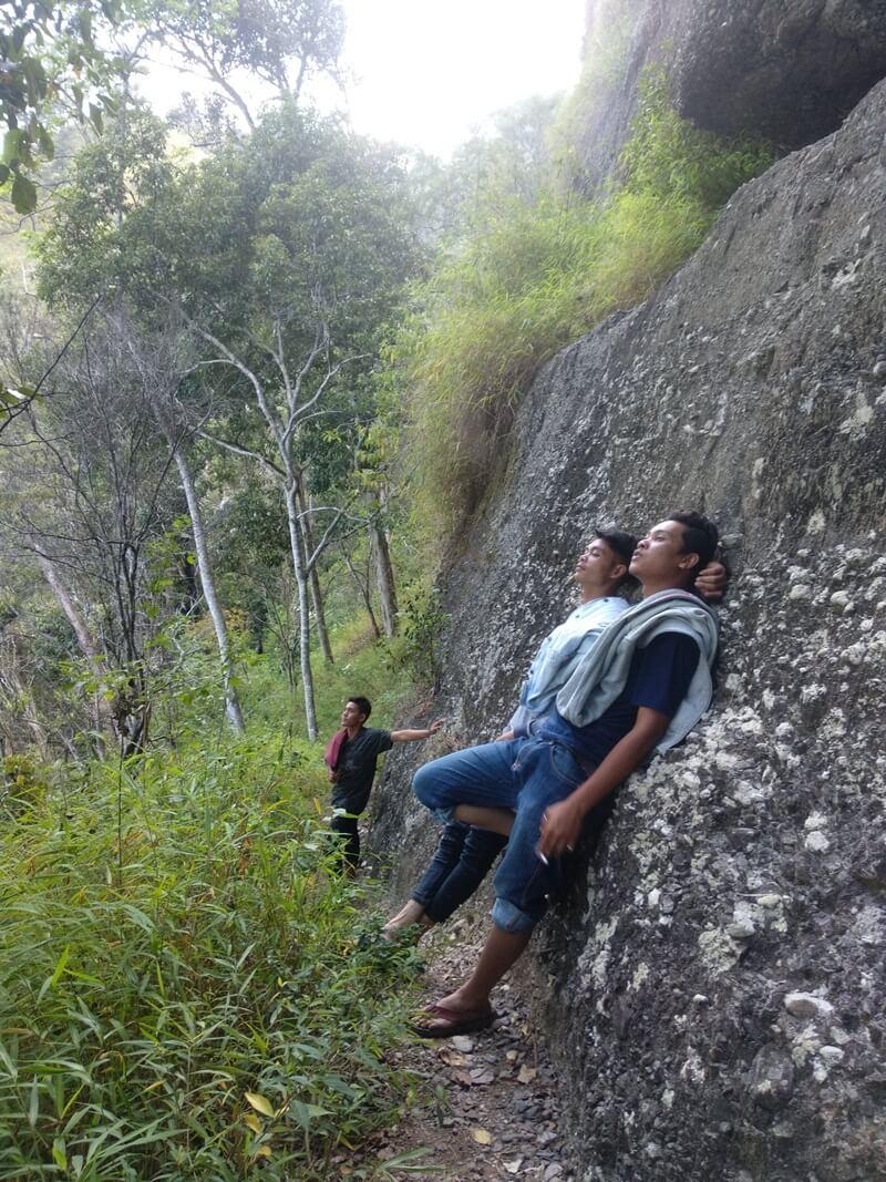 Tebing Di Jalur Trekking