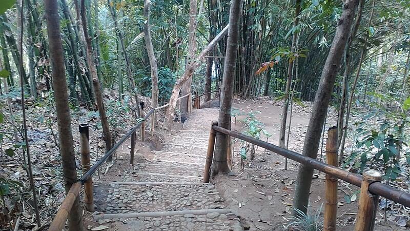 trekking menuju bukit barede