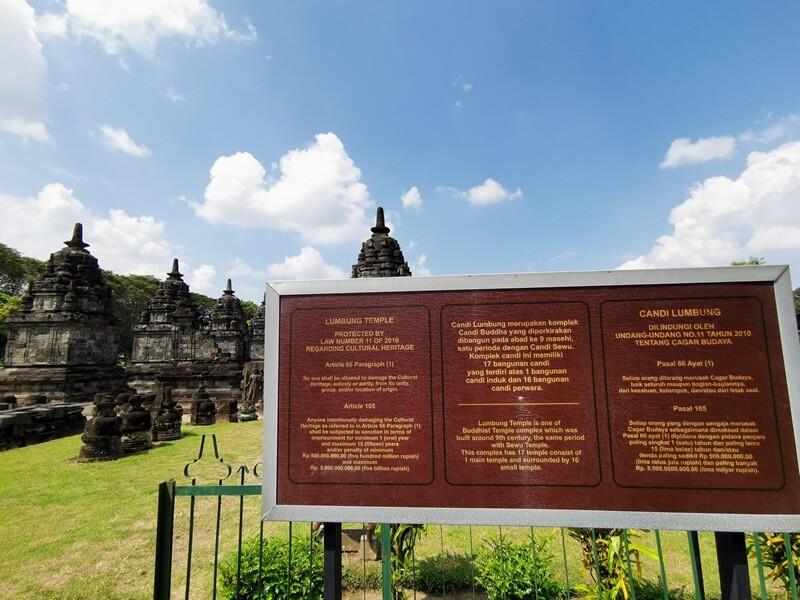 papan informasi tentang candi lumbung
