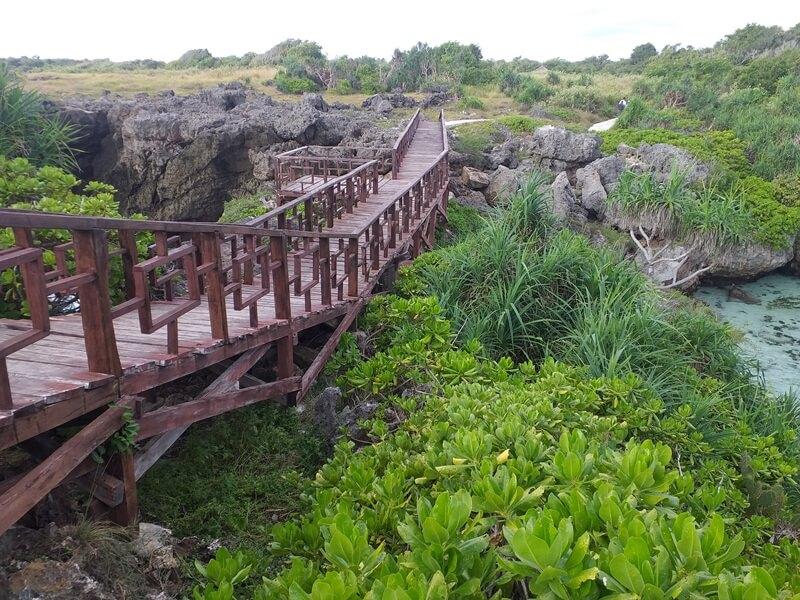 jembatan kayu menuju puncak bukit