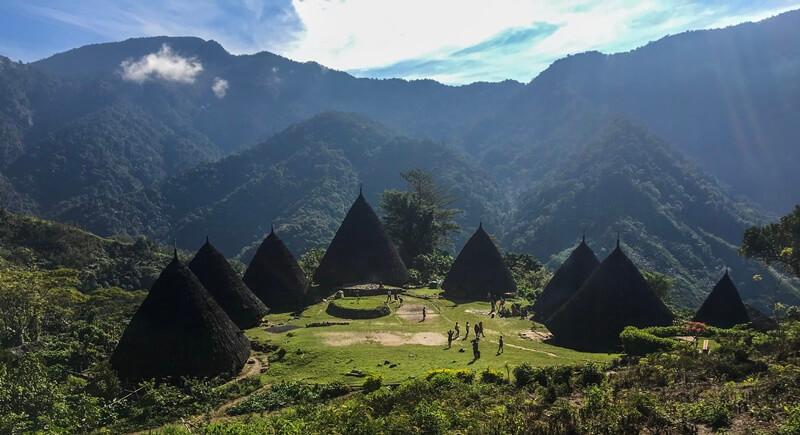 lokasi utama desa wae rebo