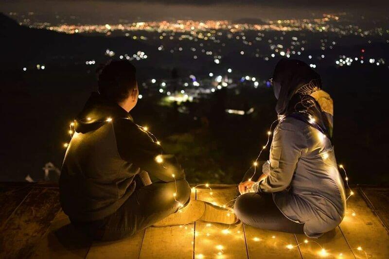 view di malam hari