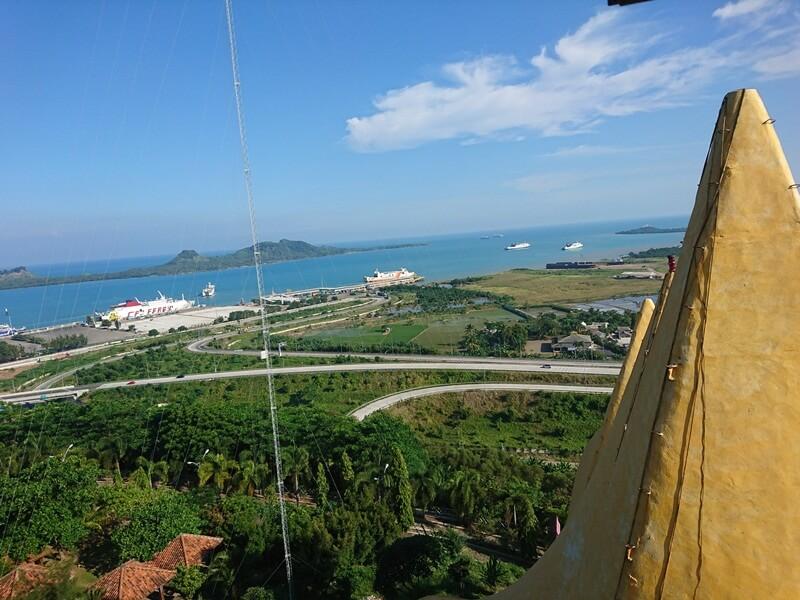 pemandangan dari atas menara